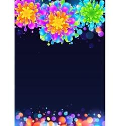 Bright rainbow colors paint splash firework vector image vector image