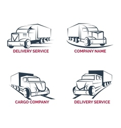 Cargo truck and delivery service logo vector image vector image