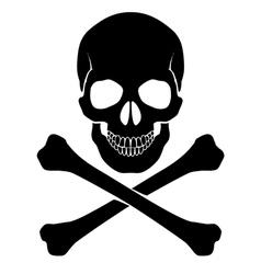 Crossbones and skull vector image vector image