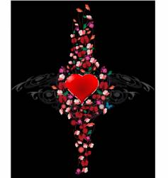 ornament heart vector image vector image