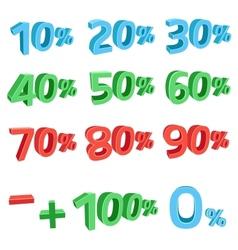 3D discount sums vector