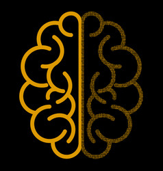 abstract brain with binary computer code vector image