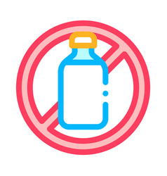 Allergen free sign lactose thin line icon vector