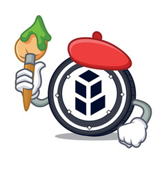 Artist bancor coin character cartoon vector
