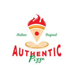 authentic italian pizza vector image