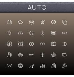 Auto Line Icons vector image