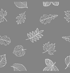 autumn leaves seamless background white leaves ag vector image