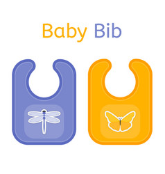 baby bib isolated vector image