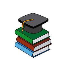 back to school book graduation cap vector image