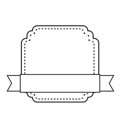 badge with ribbon isolated design vector image