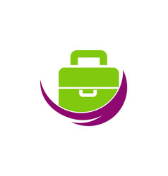 bag travel company logo vector image