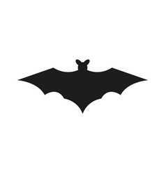 bat silhouettes on white background vector image