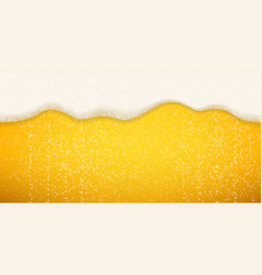 Beer foam bubbles background seamless realistic vector