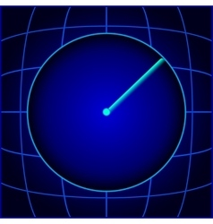 Blue search radar eps10 vector image