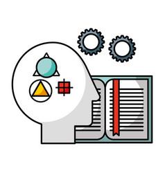brain creativity idea vector image