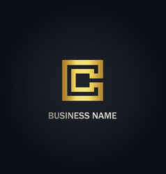 c initial company logo vector image