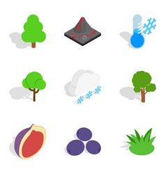 Cheerfulness icons set isometric style vector