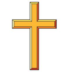 christian cross icons vector image