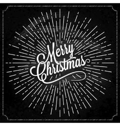 Christmas logo on chalk background vector
