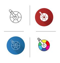 Color picker tool icon vector