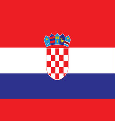 Croatian flag - croatia flag vector
