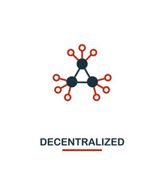 decentralized icon creative two colors design vector image