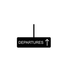 departures sign icon element of travel icon for vector image