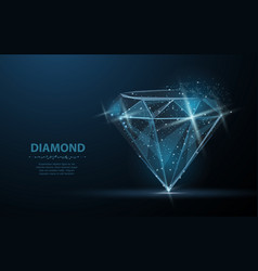 Diamond jewelry gem luxury and rich symbol vector