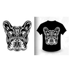 Dog face design idea for t-shirt print vector