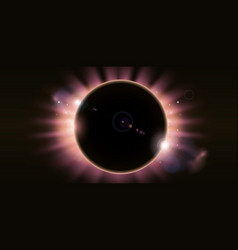 Eclipse background vector