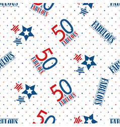 Fifty and fabulous text seamless pattern vector