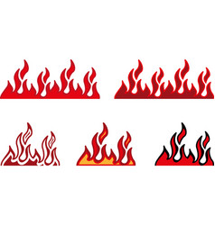 Fire border vector