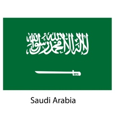 Flag of the country saudi arabia vector