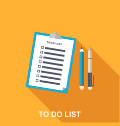 Flat of to-do list vector
