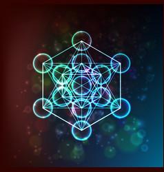 Flower life sacred geometry symbol harmony vector