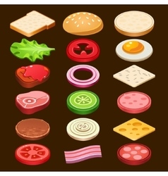 Food ingredients Series vector