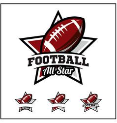 Football ball all star badge logo vector