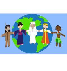 friendship between peoples vector image