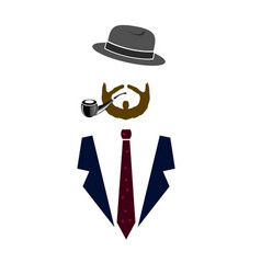 gentleman icond man icon vector image