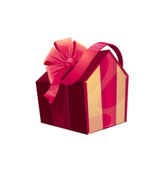 Gift box in shape house vector