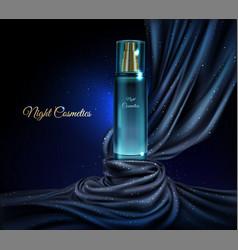 glass jar night cosmetics bottle vector image