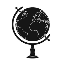 Globe icon in black style isolated on white vector