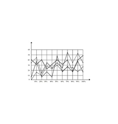 graphs computer symbol vector image