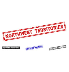 Grunge northwest territories scratched rectangle vector