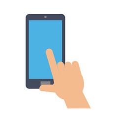 Hand with smartphone icon image vector