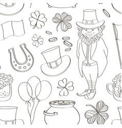 happy stpatricks day pattern vector image