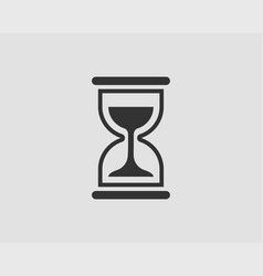 hourglass icon flat design sand glass time vector image