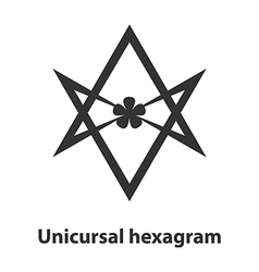 Icon of Unicursal hexagram symbol Thelema religion vector image