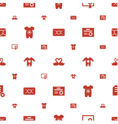 invitation icons pattern seamless white background vector image