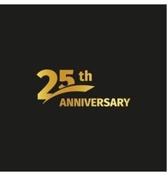 Isolated abstract golden 25th anniversary logo vector